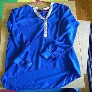 Royal blue and tan tunic